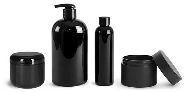 black plastic cosmetic packaging can be produced with black masterbatch